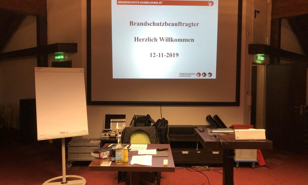 Brandschutzbeauftragtenkurs November 2019